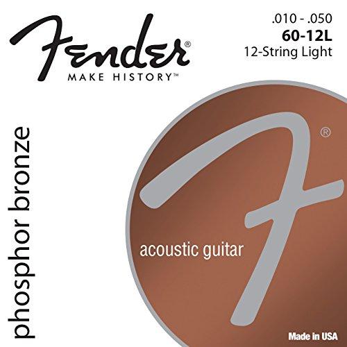 Fender 60–12L phosp Bronce (12cuerdas) 10–48