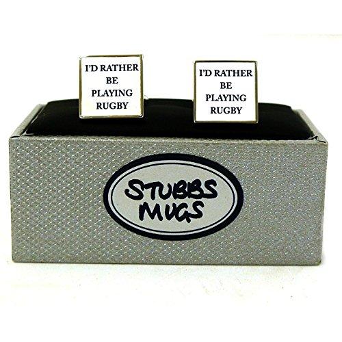 Stubbs Tasses Je Serais Plutôt Jouer Au Rugby Boutons De Manchette De Coffret (Paquet de 6)