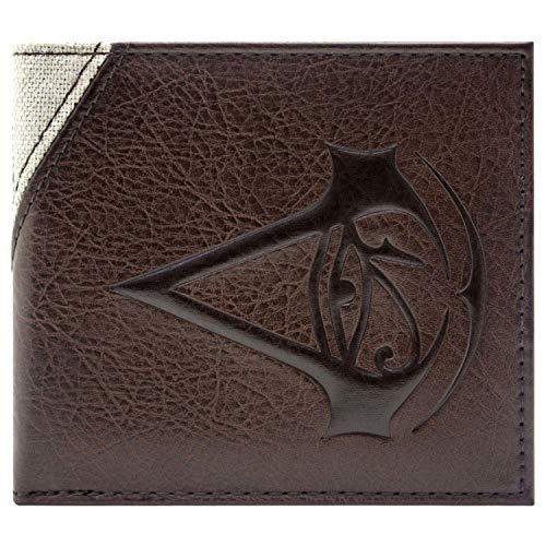 Assassin's Kostüm Unity Creed Cosplay - Assassins Creed Origins Bayek genähtes Zeichen Braun Portemonnaie Geldbörse