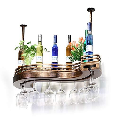 CIGONG Weinregal Aus Massivem Holz Wein Hängen Becherständer Weinständer Auf Dem Kopf Stehend Weinregal 60x23x12cm Rotwein-Rack (Size : 80 * 25 * 12cm)