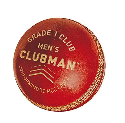GM Clubman Stufe 1Herren Club Cricket-Ball, rot, Senior