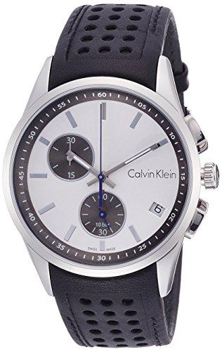 Calvin Klein Reloj Cronógrafo para Hombre de Cuarzo con Correa en Cuero K5A371C6