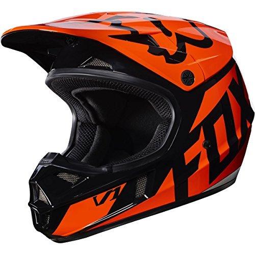 2017-Fox-Racing-Youth-V1-Race-Helmet-Orange-YL-by-Fox-Racing