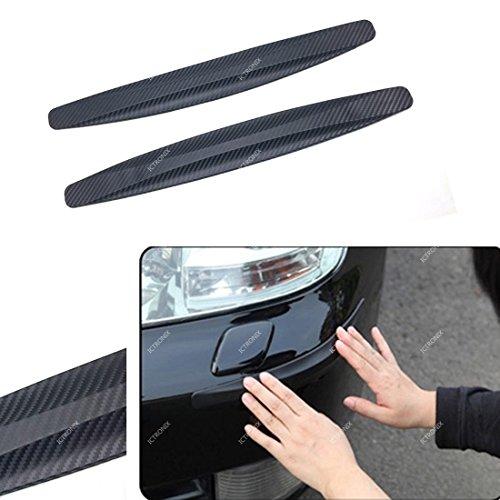 Rub-art-kit (ICTRONIX Paar Auto Vorne Hintere Stoßstange Schutz Streifen Abdeckung anti kratzer flexibel)