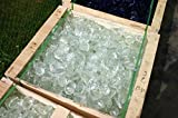 Steingrau Glasbrocken Glassplitt Dekoglas Gabionen Korngrößen 60-120mm glasklar 10 kg