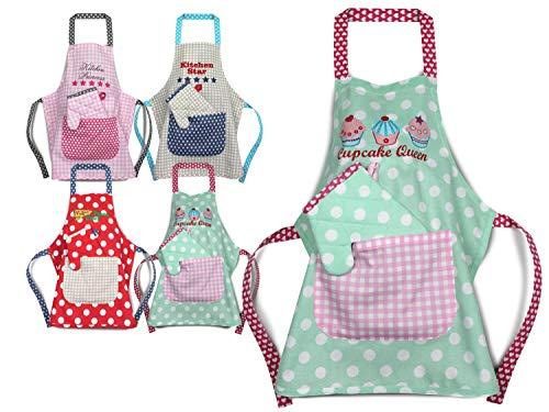 Emily´s Check Kochmütze - Küchenschürze & Topfhandschuh für Kinder 468.550, Küchenschürze & Topfhandschuh 3-6 Jahre, Cupcake Queen