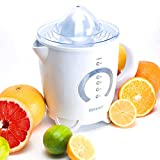 Juicers Best Deals - Duronic JE4 White Citrus Juicer Jug with 2 sized Juicing cones - 2 Years Free Warranty