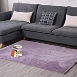 Teppich Wohnzimmer Schlafzimmer Tür Matte Nordic Home Erker quadratisch Couchtisch Bett Seite einfarbig Krabbeldecke (Farbe : 2, größe : 120 * 170cm)