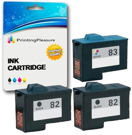 3 Compatibili Lexmark No. 82 / No. 83 Cartucce d'inchiostro per Lexmark X5100 X5130 X5150 X5190 X5200 X6100 X6150 X6170 X6190 X65 Z55 Z55se Z65 Z65n Z65p - Nero/Colore, Alta Capacità