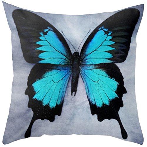 display08 Fundas de cojín decorativas con diseño de mariposas y elefantes