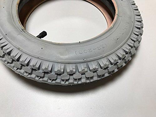 Preisvergleich Produktbild Rollstuhlreifen,  Karrenreifen,  12 1 / 2 x 2 1 / 4 2PR grau mit Schlauch,  Autoventil