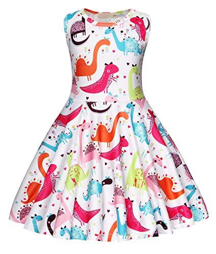 r Kostüm Kleid Kinder Ärmellos Kleider Mädchen Beiläufig Tiere Karikatur Sommerkleid Geburtstag Urlaubs Party Ankleiden Kleidung ()