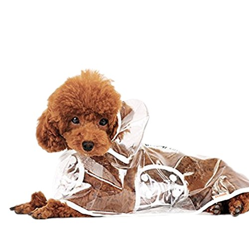 1X Toruiwa Hund Regenmantel Haustier Regenmantel Wasserdicht Regenjacke Verstellbares Regencape Transparent (S)