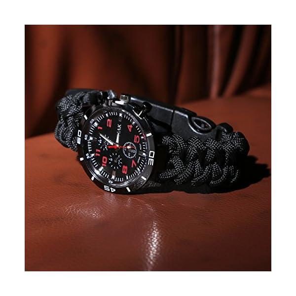 Reloj de supervivencia de pulsera 6en 1, multifuncional, impermeable,