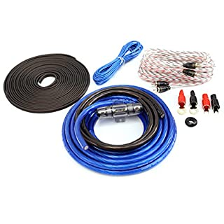 KnuKonceptz Bassik 4 Gauge Complete Amplifier Installation Amp Wiring Kit with RCA