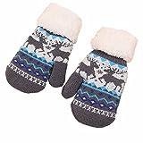FeiBeautyWeihnachtselch-strickende Elch-nette warme Handschuhe im Freien windundurchlässige Schnee-warme Handschuhe