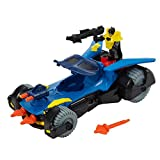 Imaginext DHT64 Batmobile, Batman Car with Dart Launcher, Shields and Rotating Cannons with Batman Figure, Suitable From 3 Year Old