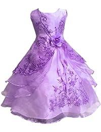 cc2d52dc88f7 Mädchen Prinzessin Kleid Blumenmädchen Kleid Kinder Hochzeit Kleid 29  Farben Gr. ...