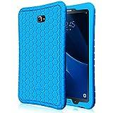 Fintie Samsung Galaxy Tab A 10.1 Funda - [Honey Comb Series] Ligero Case Funda Protectora de Silicón para Samsung Galaxy Tab A 10.1 2016 T580N / T585N Tablet, Azul