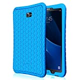 Fintie Samsung Galaxy Tab A 10.1 Hülle - [Bienenstock Serie] Leichte Rutschfeste Stoßfeste Silikon Schutzhülle Tasche Case Cover für Samsung Galaxy Tab A 10,1 Zoll T580N / T585N Tablet (2016 Version), Blau