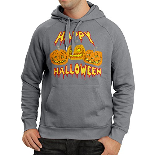 Kapuzenpullover Happy Halloween! Party Outfits & Costume - Gift Idea (Large Graphit Mehrfarben) (Sache 2 Kostüm Ideen)