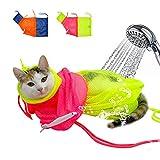 Efanty Haustier Katzen Pflege Waschende Bad Tasche für Dusche, Reinigungs-Ohr, Ausschnitt-Naegel, Medizin-Fuetterung (2 Stück)