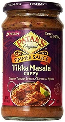 Patak's Tikka Masala Curry Cooking Sauce, Medium (6x15Oz ) by Patak's