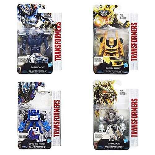 COMICTOYZ Set of 4 Transformers: Legion Class Bumblebee Optimus Prime Barricade Grimlock (4 Transformers Grimlock)