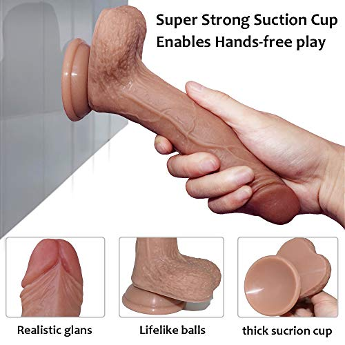 Price comparison product image QWE Liquid Silicone Female Masturbation Device Double-Layer Simulation Penis Soft Power Makes You Have A Different Experience