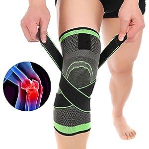 DEWIN Knieunterstützung – 3D Weaving Sport Pressurization Kniepolsterstütze, Injury Pressure Protect