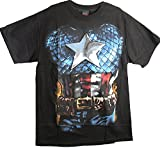 Best Mad Engine Mens Costumes - Mad Engine Men's Marvel Captain America Costume Tee Review