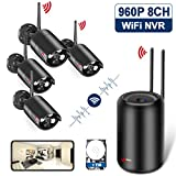 ANRAN H.265 Home Wireless Surveillance Camera System, HD 960p 8ch WiFi NVR w/