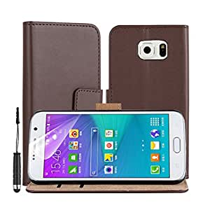 Samsung Galaxy S6 - Premium Quality Book Style Leather Wallet Cover Case Pouch with Stand Feature Includes Screen Protector & Touch Screen Stylus Pen by Accessories Collection