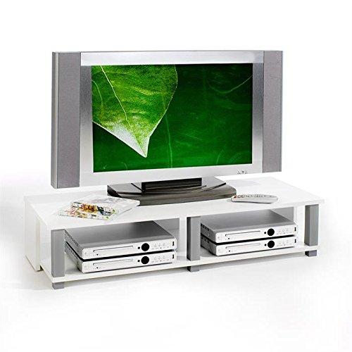 IDIMEX Meuble TV Bas Gero MDF décor Blanc