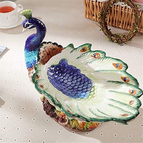 opäischen obstteller Keramik obstteller kreative Amerikanischen Wohnzimmer Tisch Dekoration pfau Hause Dekorationen hochzeitsgeschenk, A ()