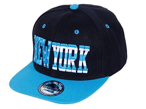 Snapback Basecap Starter Hat Hip Hop Cap Schirmmütze Baseballcap Baseball Mütze Kappe, Farbe wählen:Cap-40 NY schwarz blau
