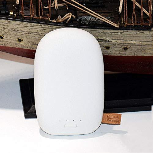 Calentador de manos, cargador USB recargable, reutilizable, gran capacidad, terapia térmica de larga duración para el alivio del dolor en pacientes con artritis por rayos - beige natural _10400 mAh