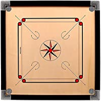 LJD Carrom Board 32 inches with Coins, Striker and Powder, Glossy Finish for Smooth Surface