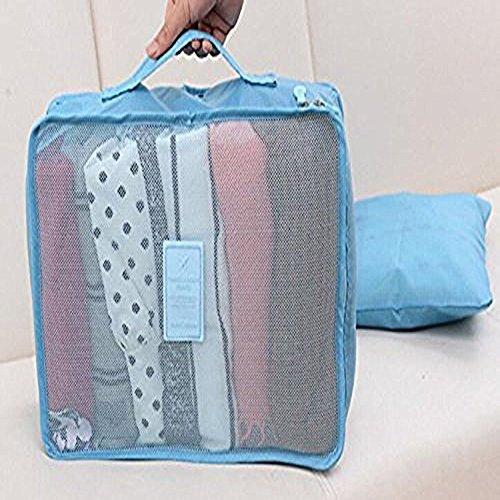 denshine Travel Wasserdichtes Gepäck Tasche Kleidung Aufbewahrungsbeutel Verpackung Organisation 6pcs