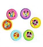 HAND Set von 6 Runde Mickey/Minnie Mouse Stempel - Assorted Designs