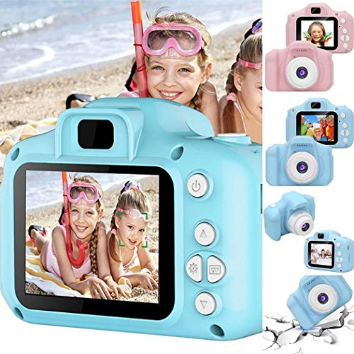 LIOPIO Niños Mini cámara Digital Grabadora de Video de Pantalla de 2 Pulgadas Juguetes educativos Cámaras Digitales