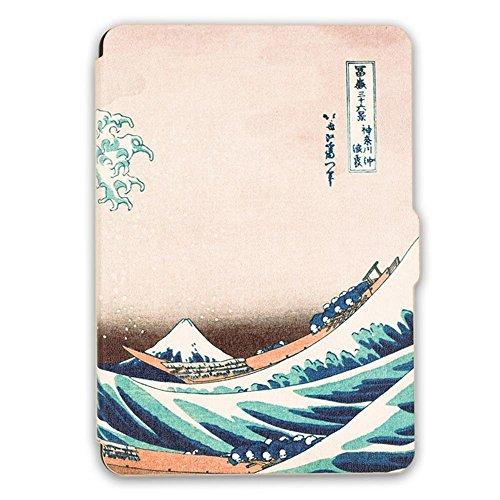 Schutz Hülle Tasche für Amazon Kindle Paperwhite Smart Tasche Etui Cover Case (Fabrik-leder-jacke)