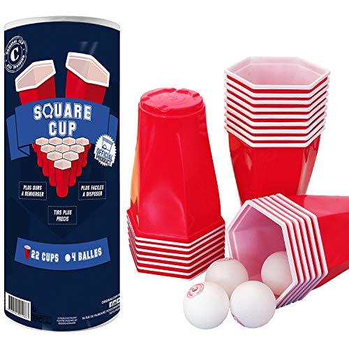 Original Cup - Set Vasos Hexagonales Beer Pong, 22