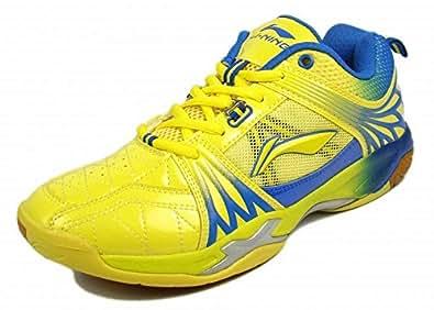 Li-Ning Titan Ltd Edition Badminton Shoes Yellow/Blue-10