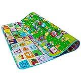 WSS bambini per movimenti educativo giocare tappetino 2 LATI GIOCO spugna morbida misura grande Picnic Tappeto 200x180cm (alfabeto design)