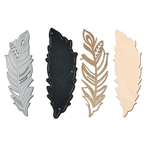 Sizzix 661331Movers & Shapers magnetisch sterben mit Thinlits, Feder Armband Manschette von Lindsey Serata