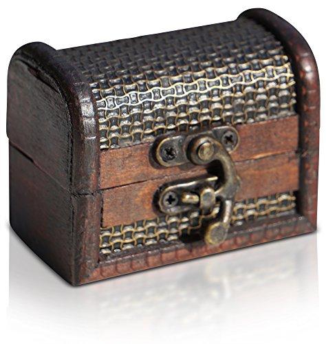 Caja de madera de BRYNNBERG |Cofre del tesoro pirata de estilo vintage