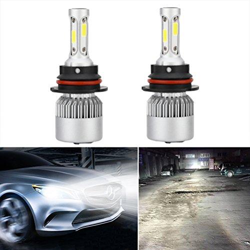 WINOMO Extrem helle HB1 9004 LED Scheinwerfer Birne Umbausätze Glühlampen Verstellbarer Strahl für DRL Nebelscheinwerfer Xenon Weiß