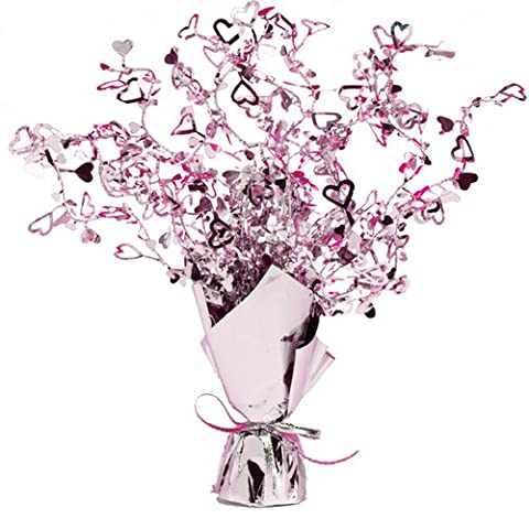 Lilac Foil Hearts Centrepiece Spray Decoration