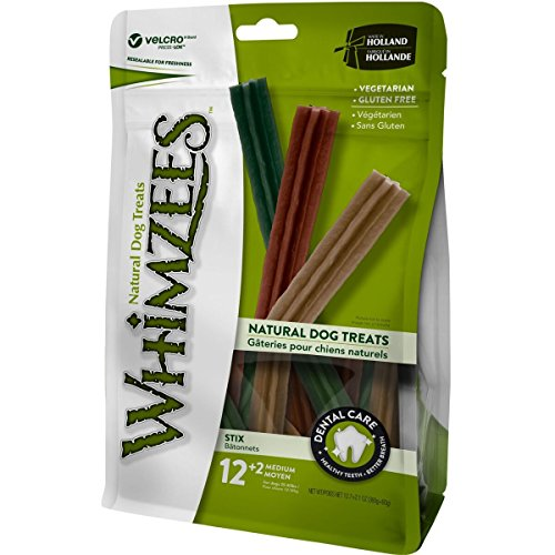 WHIMZEES Natural Dental Dog Chews Long Lasting, Stix Medium, 14 Pieces